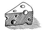 Wedge of cheese clip art JPG